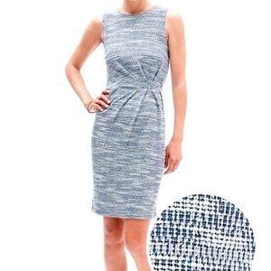 Banana Republic Factory Blue Tweed Sheath Dress